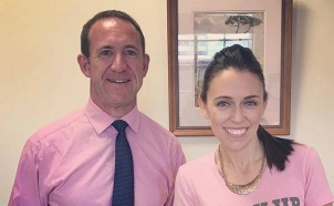 Andrew Little and Jacinda Ardern